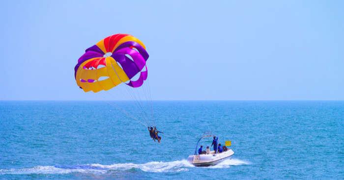 Goa's Favourite Water Sport Parasailing